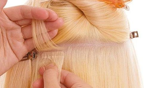 tejp löshår på tunt hår