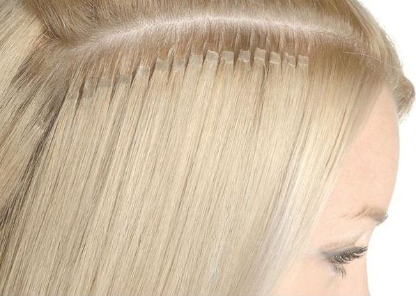 nail hair extensions på tunt hår
