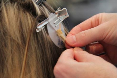 åter använda nail hair extensions