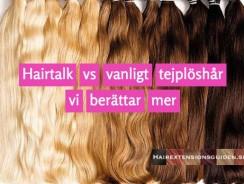 Hairtalk vs tejp – vad är egentligen skillnaden förutom priset?