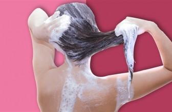Tvätta ditt hår med djuprengörande schampo innan insättning av löshår